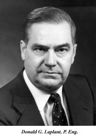 Donald G. Laplante, Acting Chairman of the Board (February to May 1990)